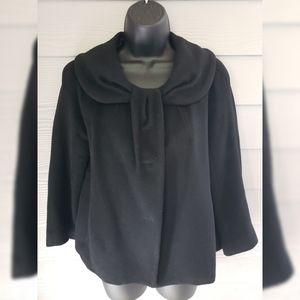 Demian Black 3/4 Sleeve Coat Medium